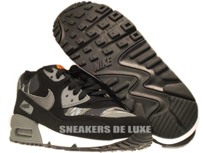 English: 307793-084 Nike Air Max 90 Black/Metallic Dark Grey-Total