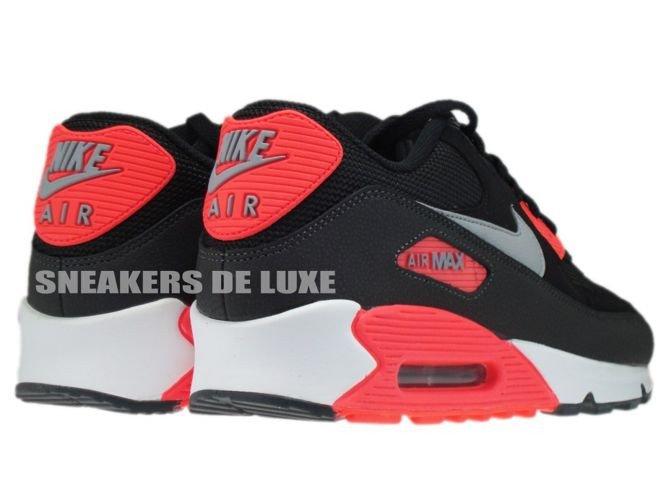 ... 537384-006 Nike Air Max 90 Essential Black/Wolf Grey-Atomic Red- ...