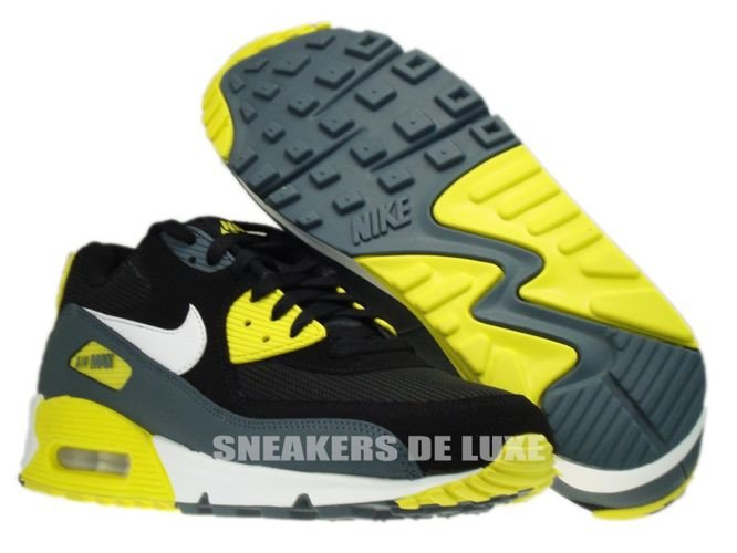 English: 537384-017 Nike Air Max 90 Essential Black/White-Sonic Yellow-Armory Slate 537384-017