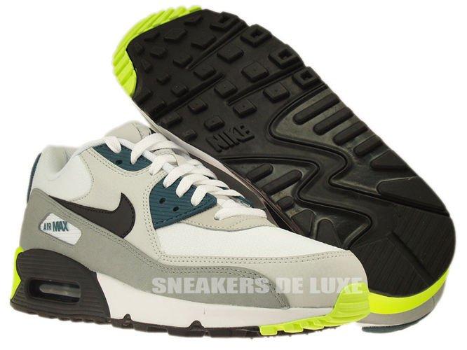 newest a2542 c2cda 537384-105 Nike Air Max 90 Essential White Black Prune-Light Mens ...