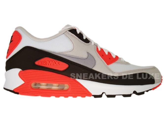 Nike Air Max 90 White/Cement Grey-Infrared-Black 325018-107 ...