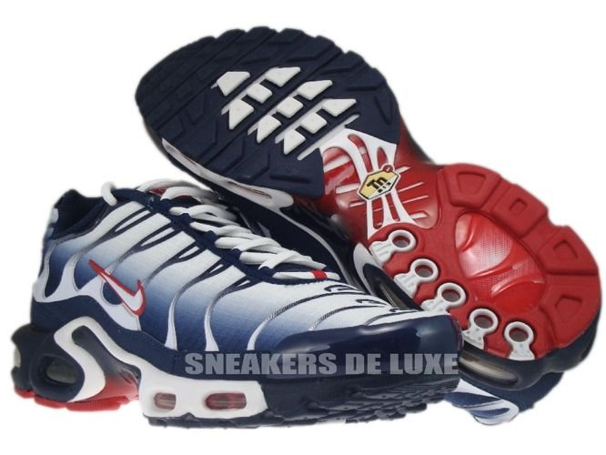 ... Nike Air Max Plus TN 1 White/University Red-Midnight Navy ...