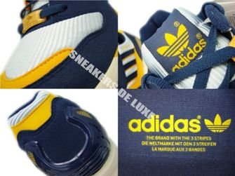 147011 Adidas Originals ZX 8000 Dawn Blue/Dark Slate/Cadmium Yellow