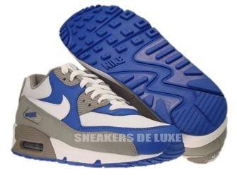 325018-054 Nike Air Max 90 Medium Grey/White-Varsity Royal