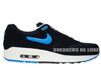 512033-041 Nike Air Max 1 Premium Black/Blue Her-Black-Sail