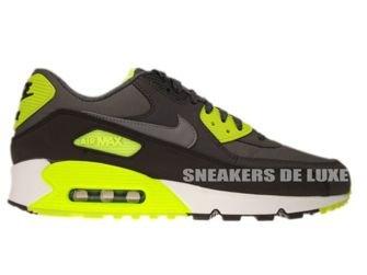 537384-007 Nike Air Max 90 Essential Dark Grey/Cool Grey-Anthracite-Volt