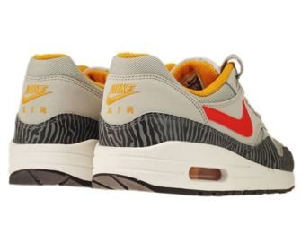 555766-008 Nike Air Max 1 Pearl Grey Tiger