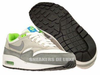 555766-104 Nike Air Max 1 White/Metallic Cool Grey-Neutral Grey