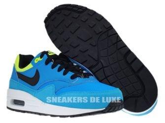 555766-401 Nike Air Max 1 Blue Hero/Black-Volt-Current Blue