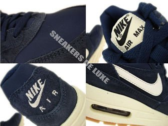 555766-404 Nike Air Max 1 Midnight Navy / Sail - Black