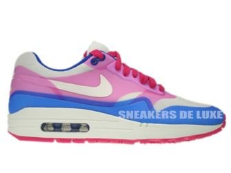 579758-100 Nike Air Max 1 Premium Hyperfuse Sail-Pink Force-Hyper Blue