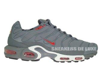 604133-080 Nike Air Max Plus TN 1 Cool Grey/Challenge Red-Black