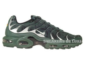 604133-303 Nike Air Max Plus TN 1 Black Bruse/Metallic Silver/Vintage Green