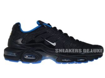 605112-028 Nike Air Max Plus TN 1 Black/Metallic Silver- Soar-White