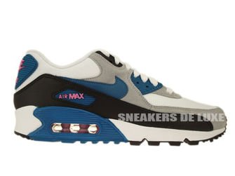 616730-103 Nike Air Max 90 Essential White/ Green Abyss-Red Volt-Black