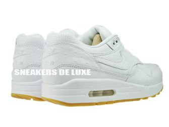 705007-111 Nike Air Max 1 Leather PA White/White-Gum Light Brown