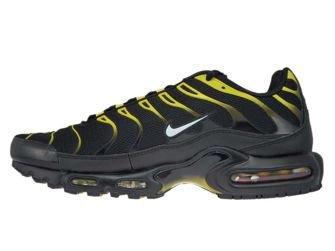 852630-020 Nike Air Max Plus TN 1 Black/White-Vivid Sulfur