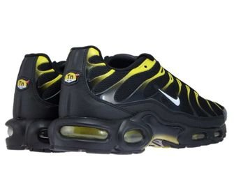 852630-020 Nike Air Max Plus TN 1 Black/White-Vivid Sulfur