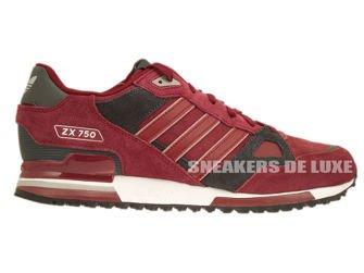 B25960 Adidas ZX 750 Collegiate Burgundy/Collegiate Burgundy/Dgh Solid Grey