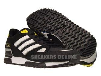 G61241 Adidas Originals ZX 750 Black/White/Metallic Silver