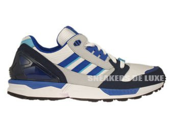 M18267 adidas Originals ZX 8000 Running White / Collegiate Royal / Collegiate Navy