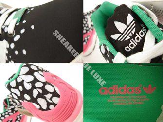 M19455 adidas ZX Flux Core Black / Ftwr White / Semi Solar Pink