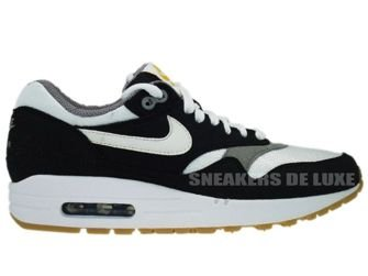 Nike Air Max 1 Black/White-Light Charcoal Gum Light  319986-008