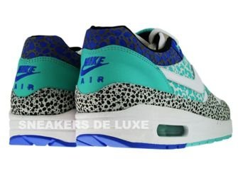 Nike Air Max 1 Nike Air Max 1 Premium Safari Print White/White-Medium Blue-Mint 314252-114