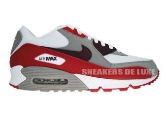 Nike Air Max 90 309299-128 White/Deep Burgundy-Varsity-Red Tech Grey