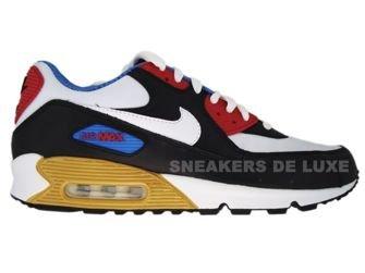 Nike Air Max 90 Premium LE Black/White/Varsity Red/Varsity Blue 333888-012