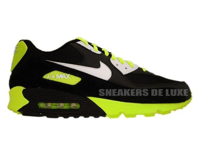 new styles aef61 daac8 325018-099 Nike Air Max 90 Black White-Volt ...