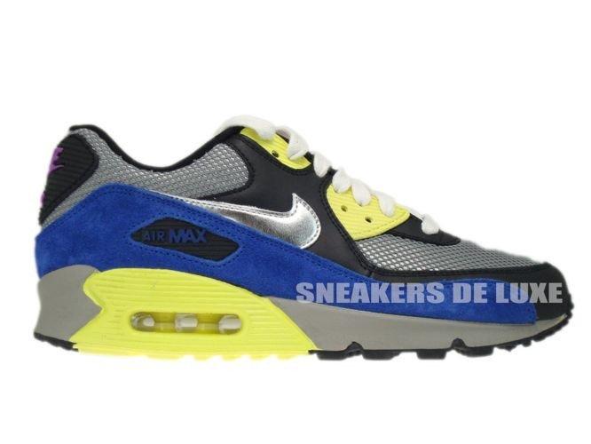 buy popular f6221 8daba 325213-025 Nike Air Max 90 Medium Grey/Silver-Black-Volt ...