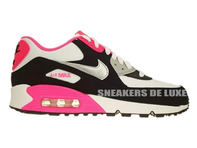 345017 122 Nike Air Max 90 WhiteMetallic Silver Black Hyper
