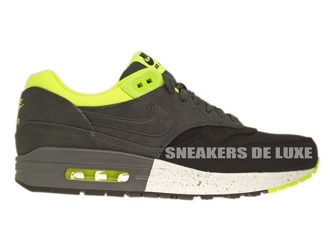 hot sale online c9a42 a8b72 512033-002 Nike Air Max 1 Premium Black Anthracite-Anthracite-Volt ...