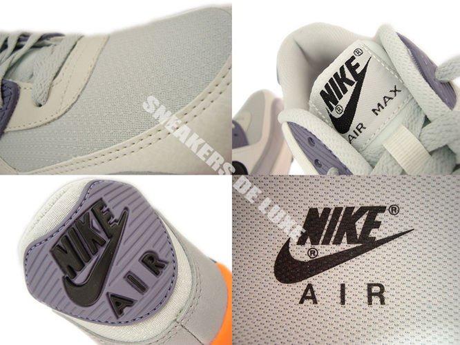 NIKE AIR MAX 90 Essential Light Base GreyBlackIron PurpleAtomic Orange 44