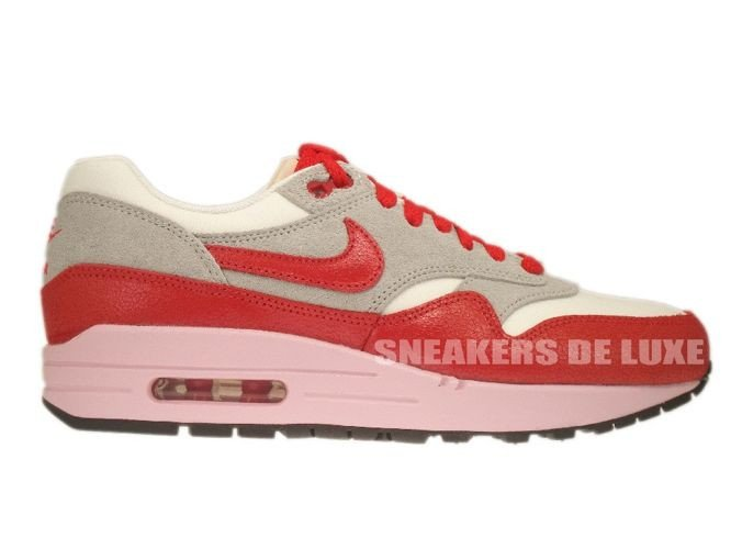 the best attitude 3a089 f31f5 555284-103 Nike Air Max 1 Vintage Sail Hyper Red-Street Grey- ...