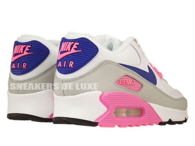 factory authentic 71a4f 98ab0 ... 616730-104 Nike Air Max 90 Essential White/Concord-Zen Grey-Pink ...