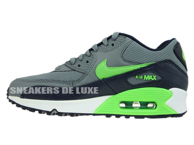 724824 013 Nike Air Max 90 Cool GreyVoltage Green Obsidian
