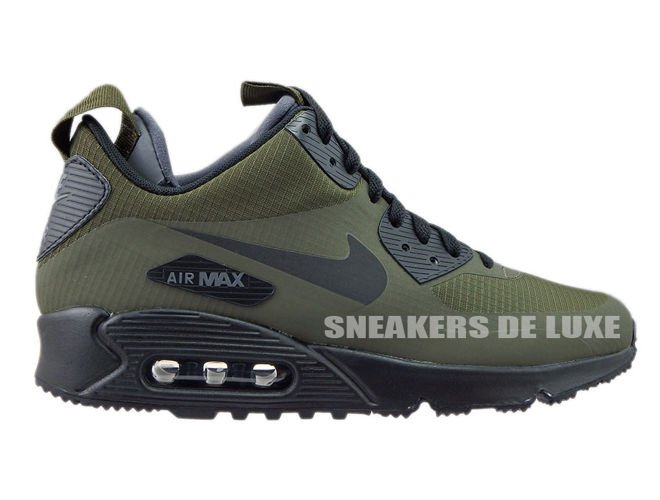 cheap for discount b8a89 9a61c 806808-300 Nike Air Max 90 Mid Winter Dark Loden Black-Dark Grey ...
