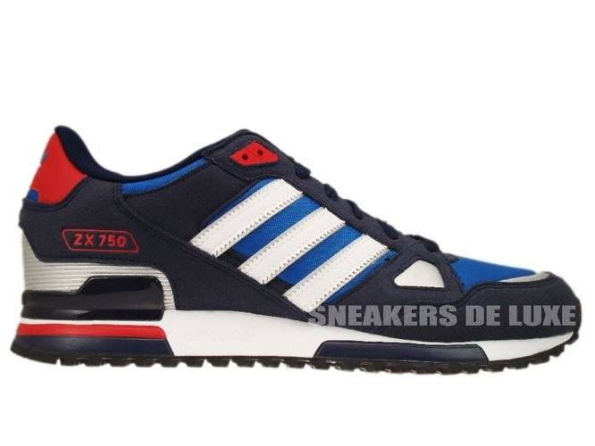 cd475f2db622db ... france adidas originals zx 750 pool blue white silver red g61242 29916  cd521 ...