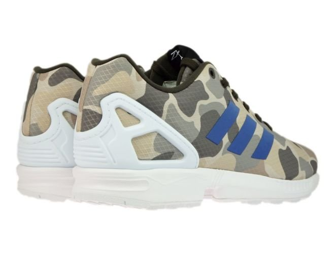 huge selection of 42320 31bcc BB2174 adidas ZX Flux Camo Umber / Blue / White BB2174 ...
