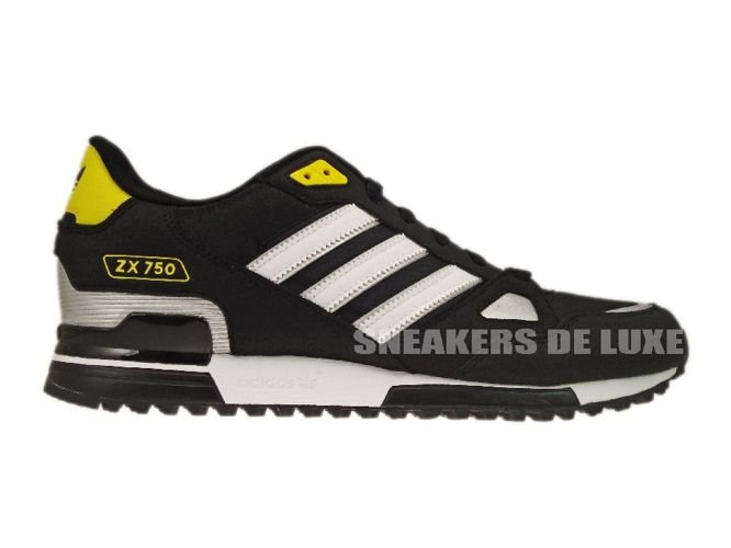 G61241 Adidas Originals ZX 750 Black/White/Metallic Silver ...