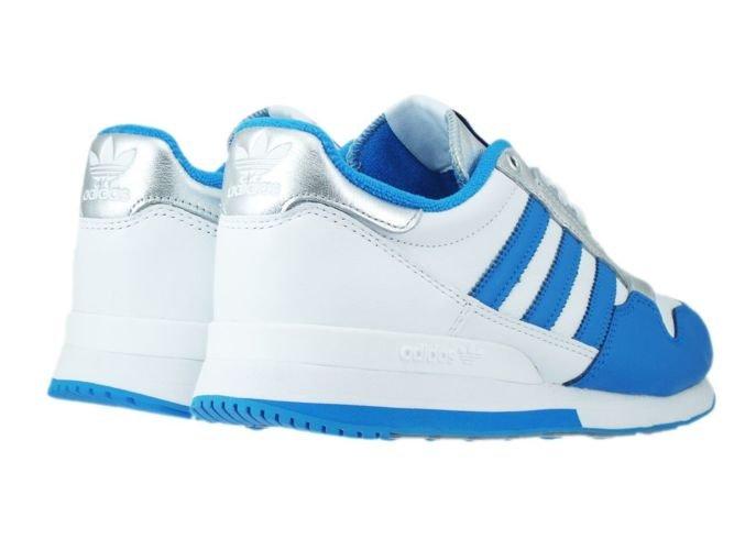 49d12b4461e1a ... M21520 adidas Originals ZX 500 OG Nigo White  Bright Blue  Silver  Metallic