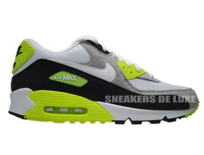 size 40 c6e33 b9c09 Nike Air Max 90 Black White-Medium Grey-Volt 325018-048 ...