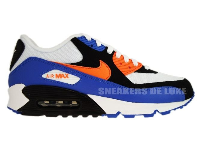 fac63fcde174 Nike Air Max 90 White Bright Mandarin-Black 309299-127 Nike   mens