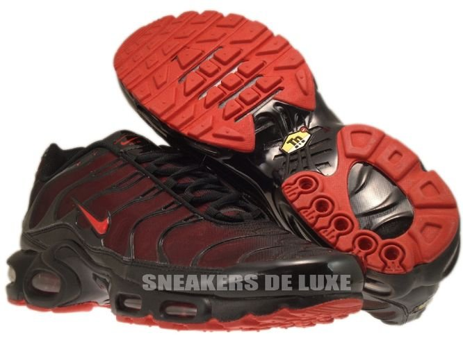 nike tns black and red
