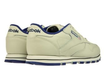28413 Reebok Classic Leather EcruNavy 28413 Reebok  womens