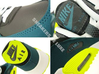 307793-078 Nike Air Max 90 Black/Mineral Teal-Dark Sea-Volt