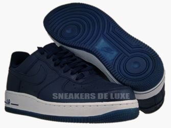 315122-406 Nike Air Force 1 '07 Obsidian/ Obsidian-White