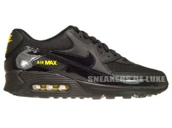 325018-056 Nike Air Max 90 Black/Black-Golden Sash